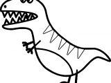 Wild Cartoon Dinosaur Coloring Page