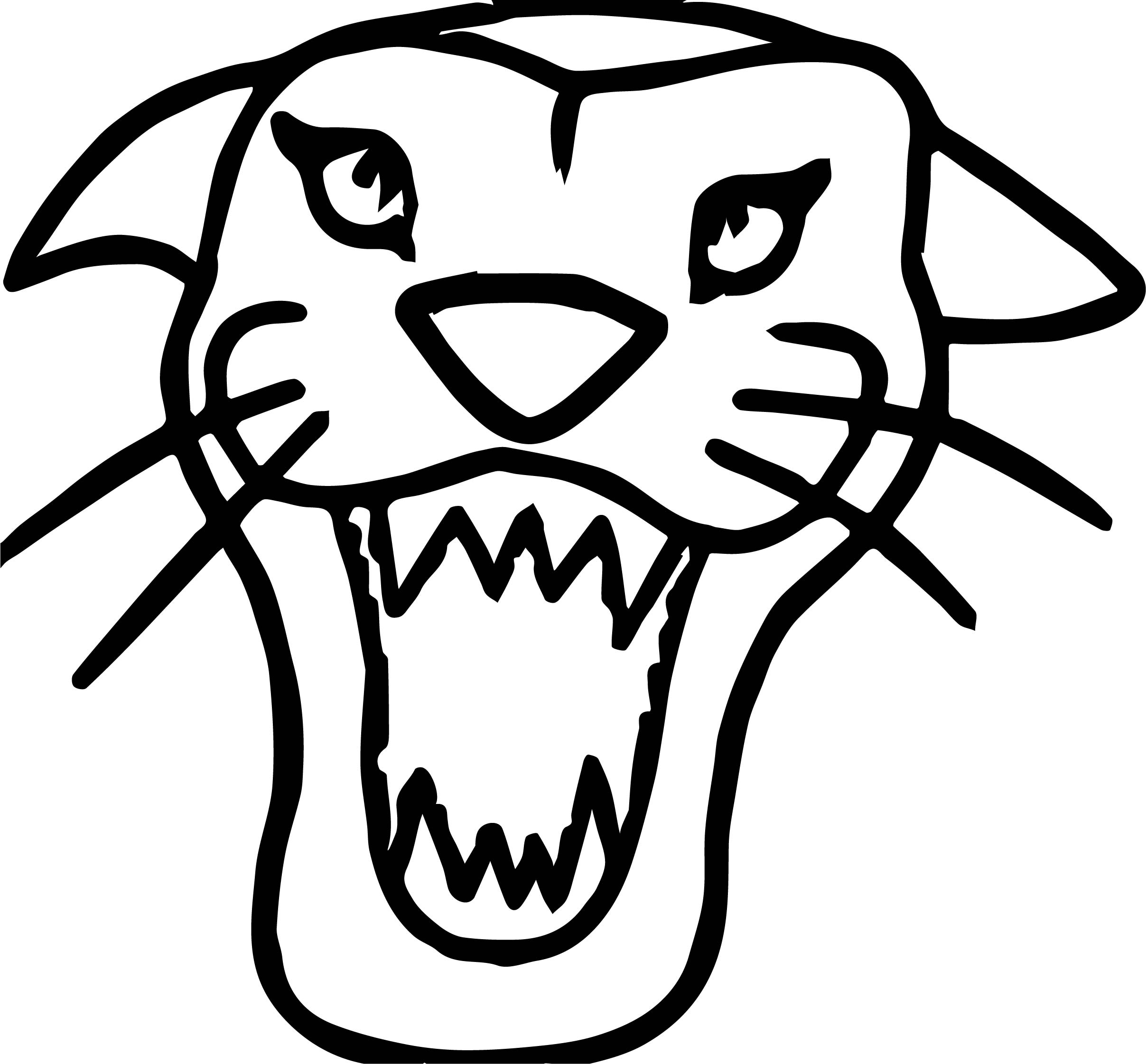Wild Tiger Face Coloring Page