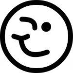 Wink Emoticon Coloring Page
