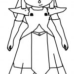 Zelda Cartoon Girl Coloring Page