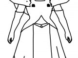 Zelda Cartoon Girl Coloring Page