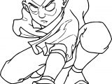 Aang Avatar Powered Coloring Page