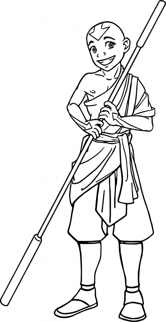 avatar aang coloring pages - photo#23