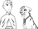 Aang Meets Broku Broku Djhxtn Avatar Aang Coloring Page