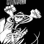 Amazing Danny Phantom Black Background Coloring Page