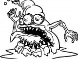 Amazing Scream Cartoon Monster Free Coloring Page