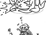 Amazing Squid Girl Coloring Page