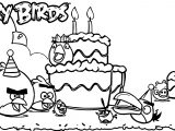 Angry Birds Cake Partnership Feature Coloring Page