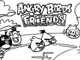 Angry Birds Friends Coloring Page