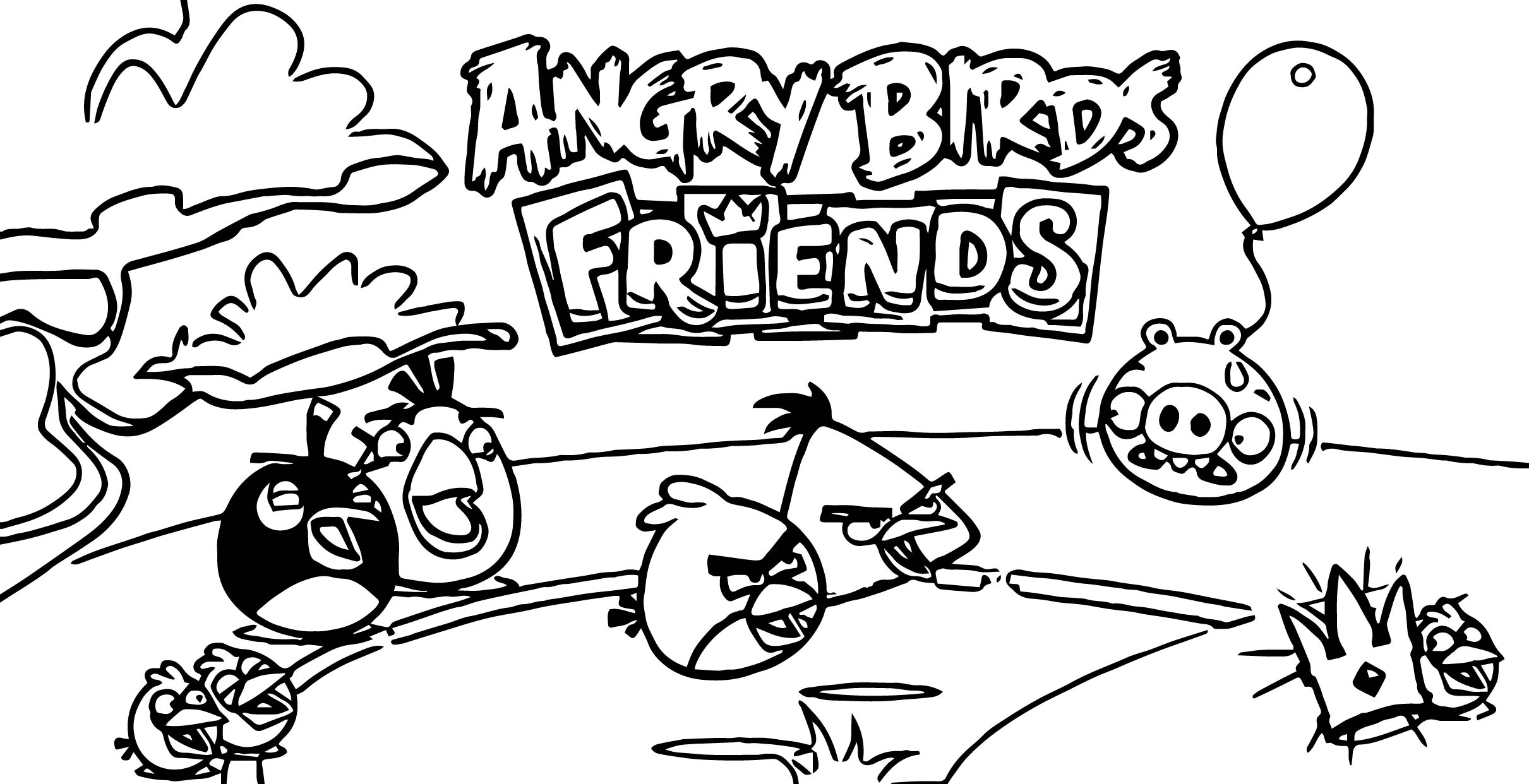 Angry birds friends coloring page for Angry birds rio coloring pages