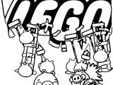 Angry Birds Lego Partnership Feature Coloring Page