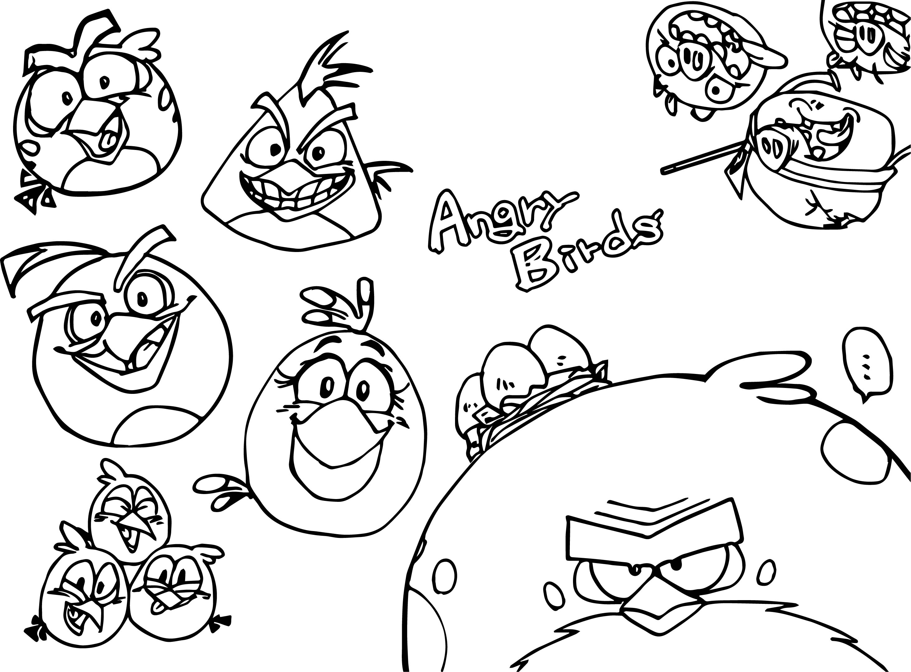 Angry birds photo coloring page for Angry birds rio coloring pages