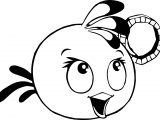 Angry Birds Pink Girl Super High Quality Coloring Page