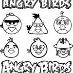 Angry Birds Vector Graphics Coloring Page
