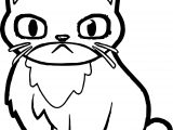 Angry Cat Coloring Page