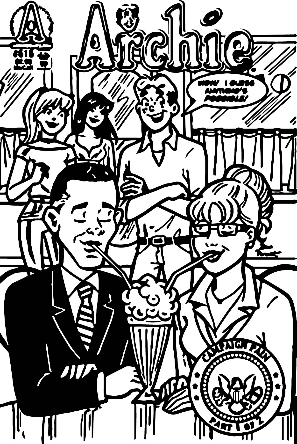 archie coloring pages - photo#21