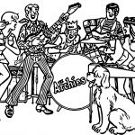 Archies Band Fights Coloring Page