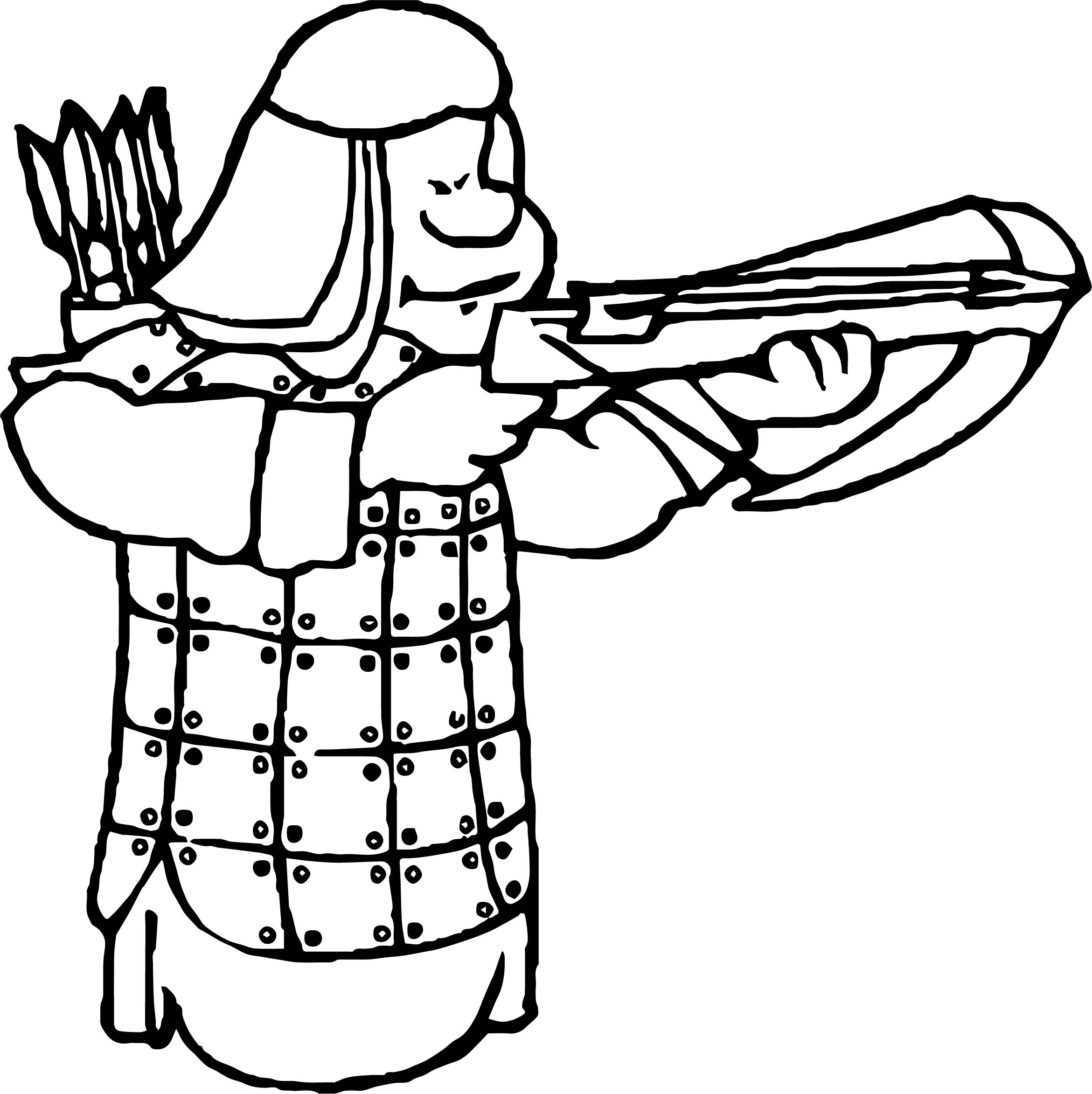 Arrow Soldier Coloring Page