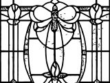 Art Nouveau Stained Glass Coloring Page