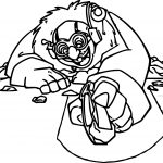 Atlantis The Lost Empire Mole Writing With Stone Coloring Page