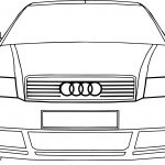 Audi A4 Front Coloring Page