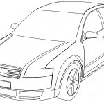 Audi A4 Perspective Coloring Page