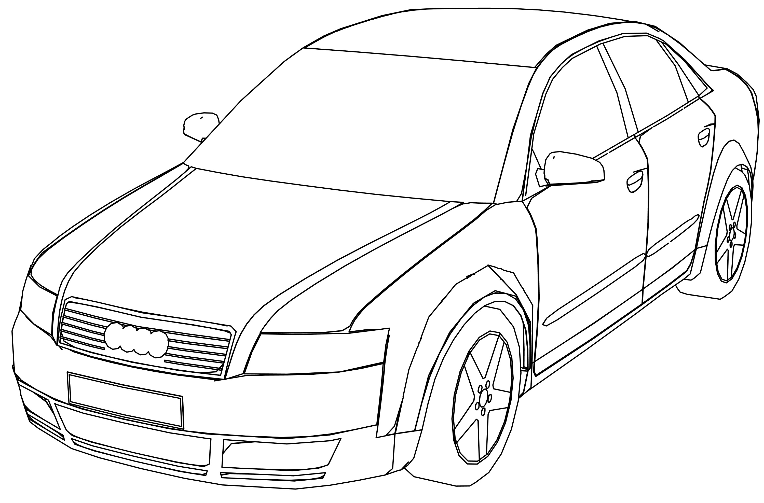Audi a4 perspective coloring page for Audi r8 coloring pages