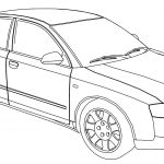 Audi A4 Side Coloring Page