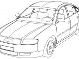 Audi A6 Inside And Outside Coloring Page