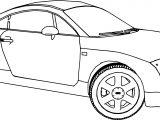 Audi TT 2 Car Coloring Page
