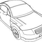 Audi TT Car Coloring Page