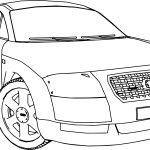 Audi TT Car Turn Coloring Page