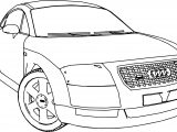 Audi TT Car Turn Coloring Page