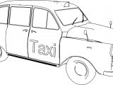 Austin Taxi Car Coloring Page