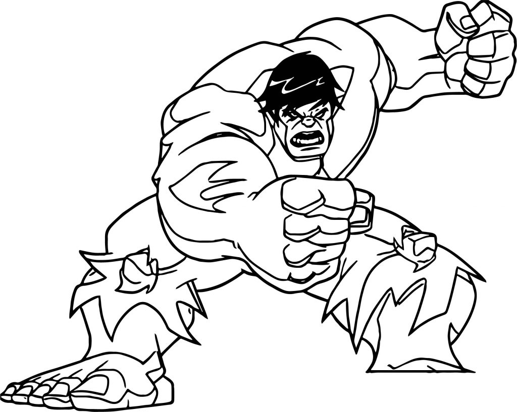 Avengers Hulk Coloring Page Wecoloringpage