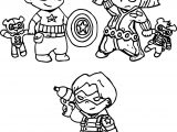 Avengers Three Kids Coloring Page