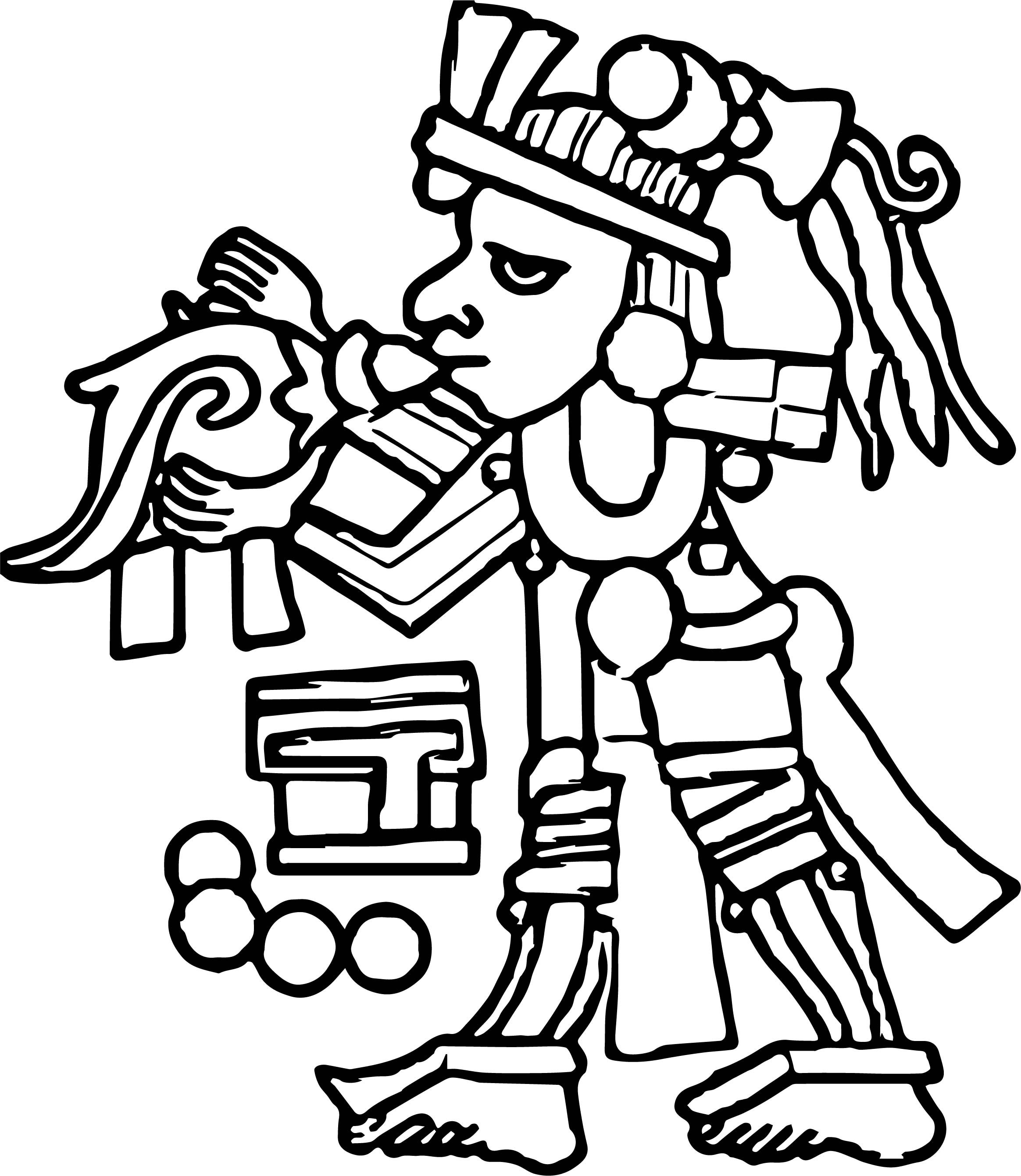 Aztec Music Coloring Page | Wecoloringpage