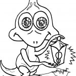 Baby Cartoon Monster Coloring Page