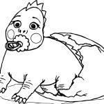 Baby Dinosaur Broken Egg Coloring Page