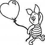 Baby Piglet Balloon Coloring Page