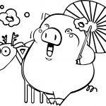 Baby Piglet Horse Coloring Page