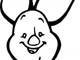 Baby Piglet Smile Face Coloring Page