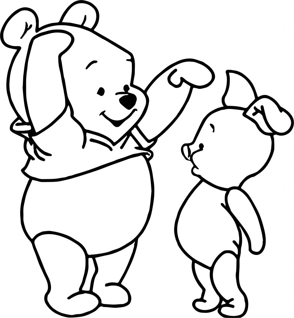 baby winnie the pooh coloring pages - baby piglet winnie the pooh tall short coloring page
