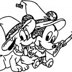 Baby Pluto Magic Coloring Page