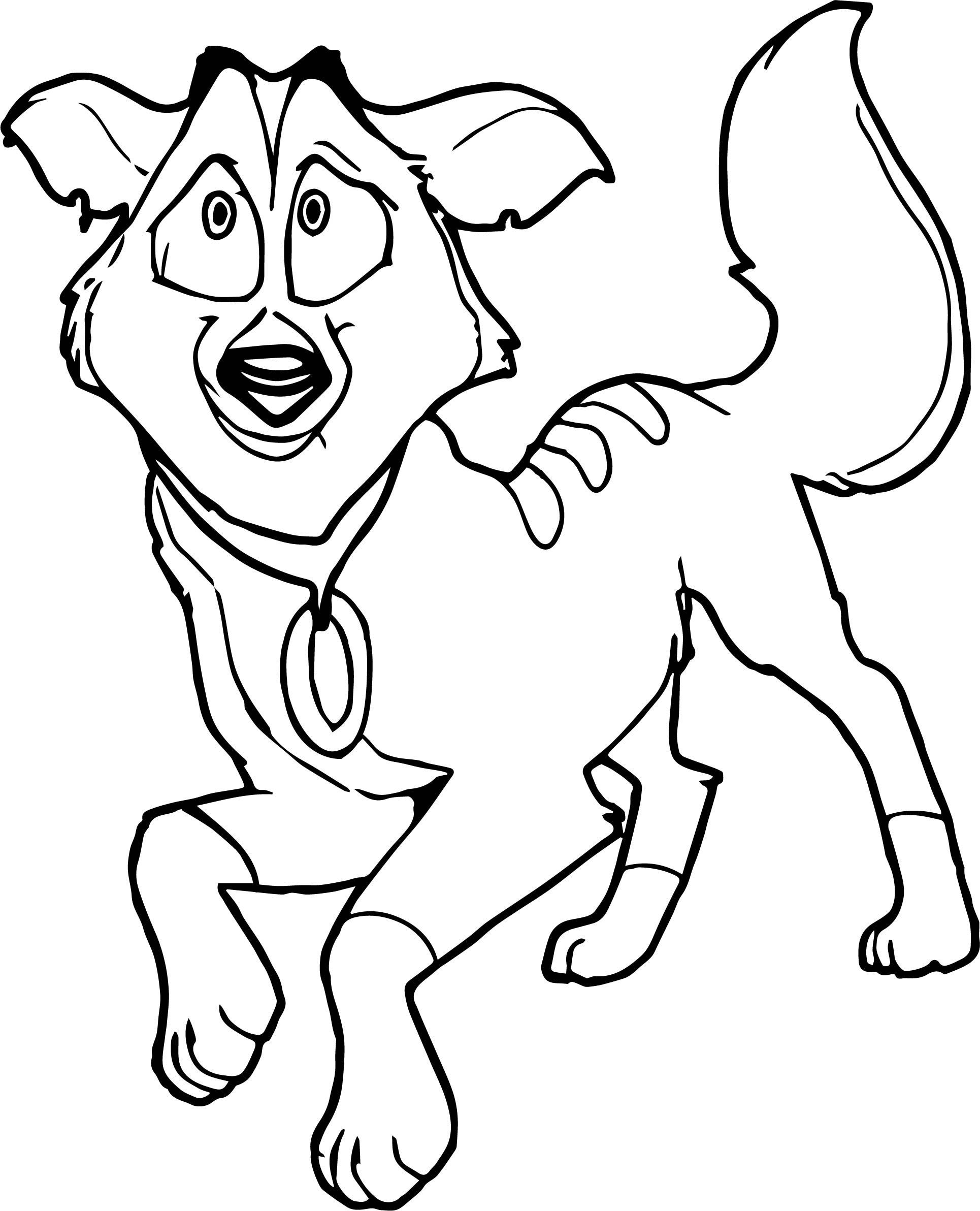 wolf color pages - balto star wolf coloring page