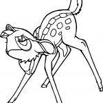 Bambi Look Up Coloring Pages