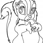 Bambi S Flower The Skunk Flower Curious Coloring Pages