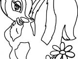 Bambi S Flower The Skunk Flower Side Coloring Pages