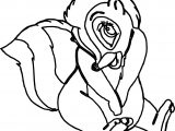 Bambi S Flower The Skunk Flowershy Coloring Pages