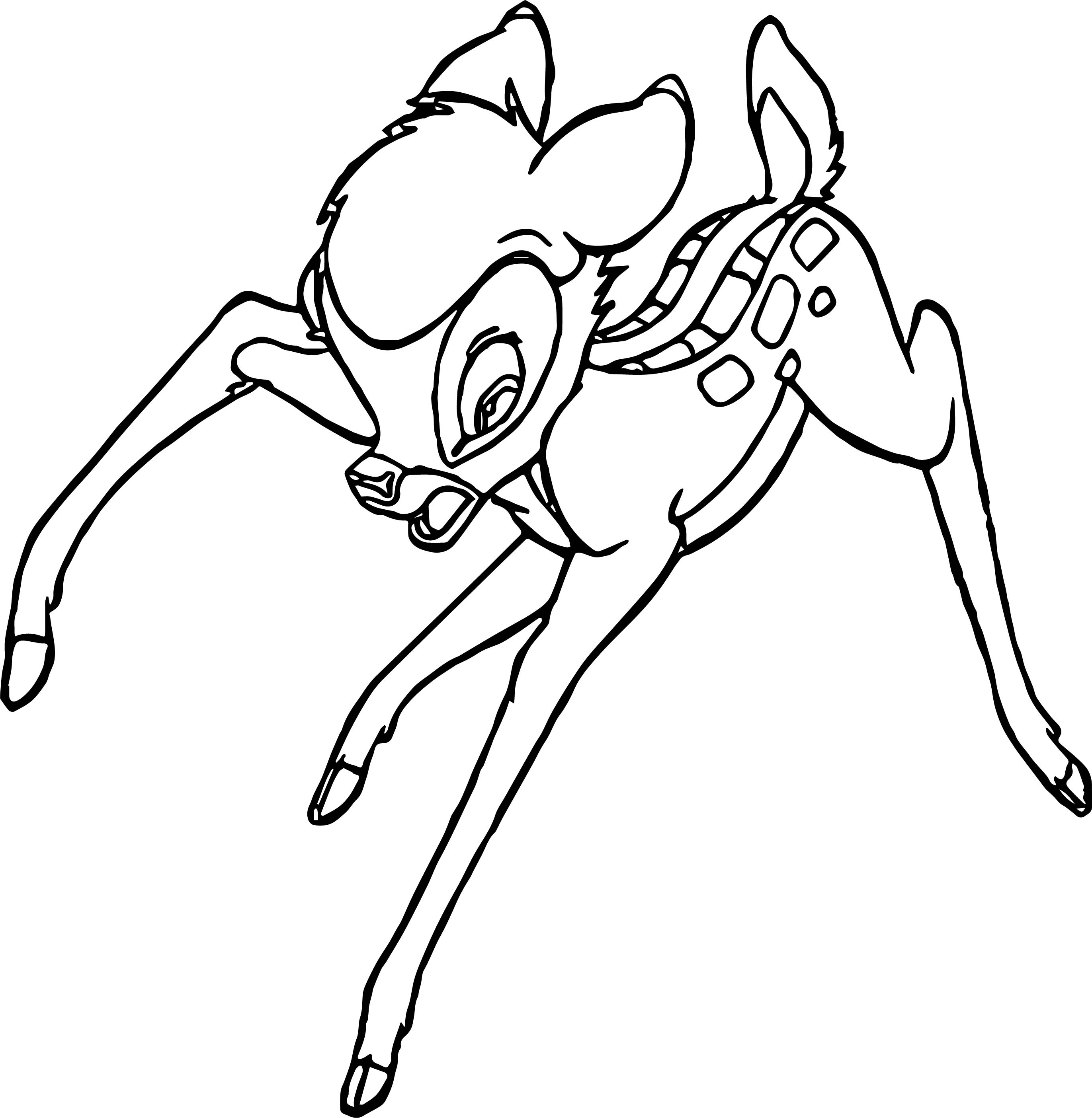 Bambi Scream Coloring Pages